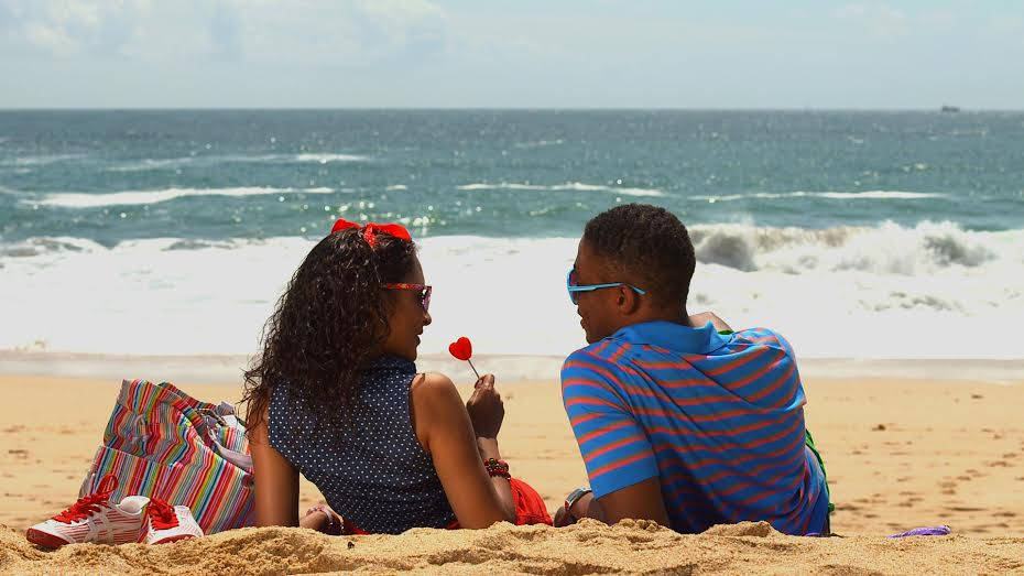Mia (Melissa Latouche) and Terrell (Paul Chiedozie) in a brief respite from the mayhem