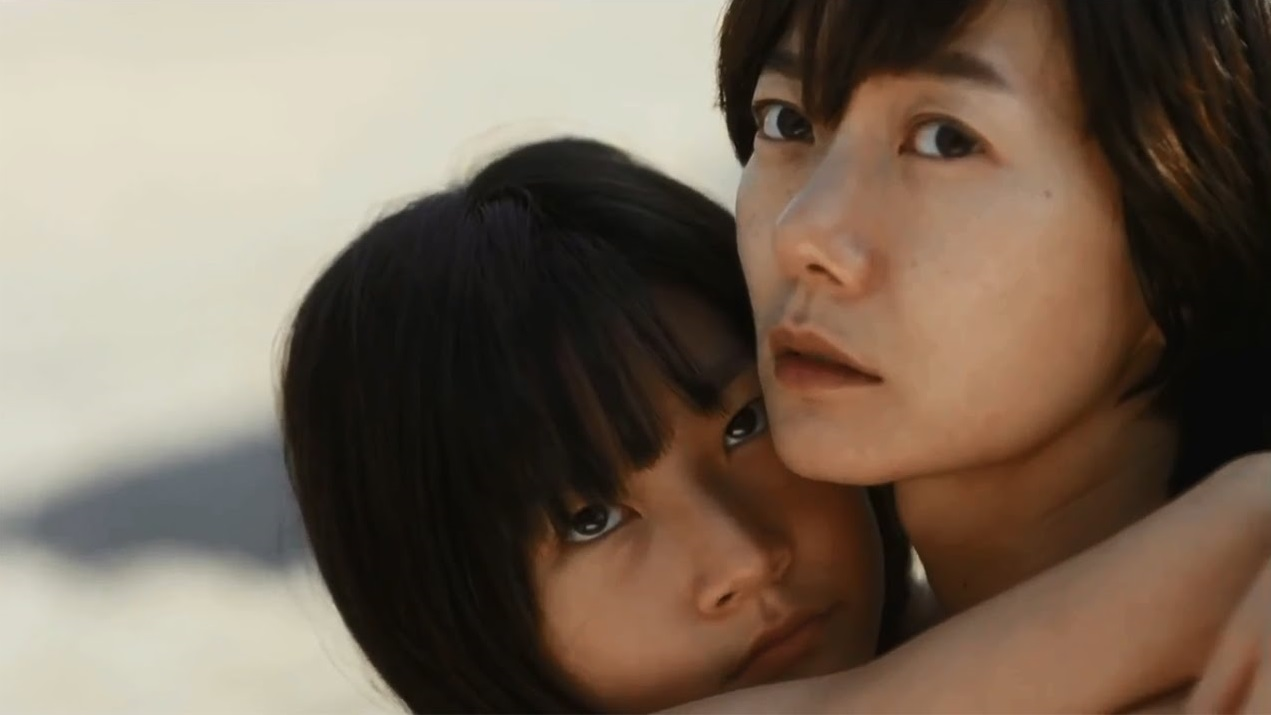 Doona Bae with her young co-star Kim Sae-ron in A Girl at My Door