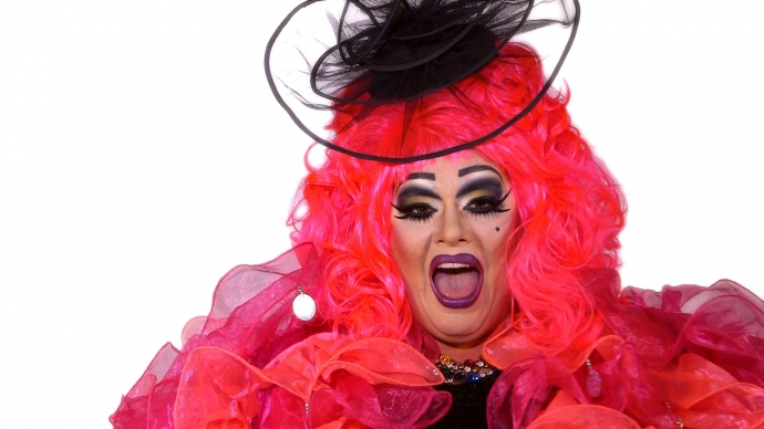 Drag artist, featured in the film, introduced Rothbart to East London's alternative drag scene