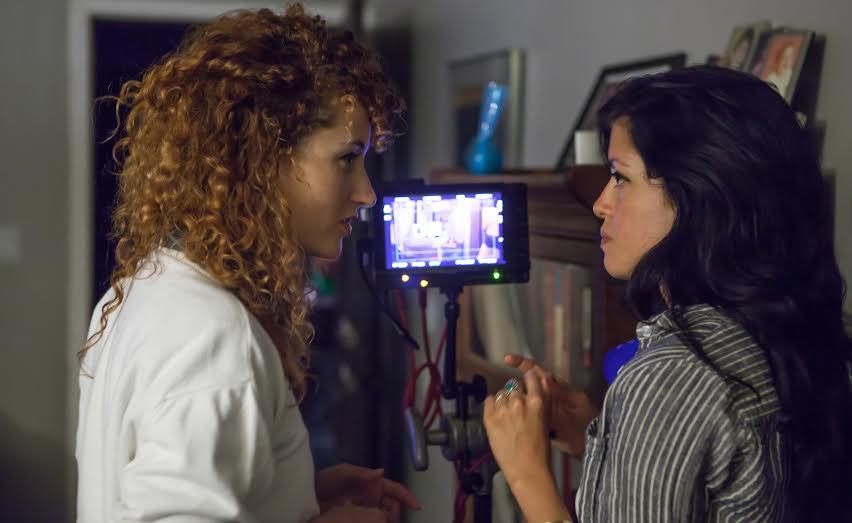 Natalia Leite (right) with Purple Milk collaborator Alexandra Roxo (left)