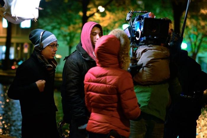 Sway director Rooth Tang filming in Paris