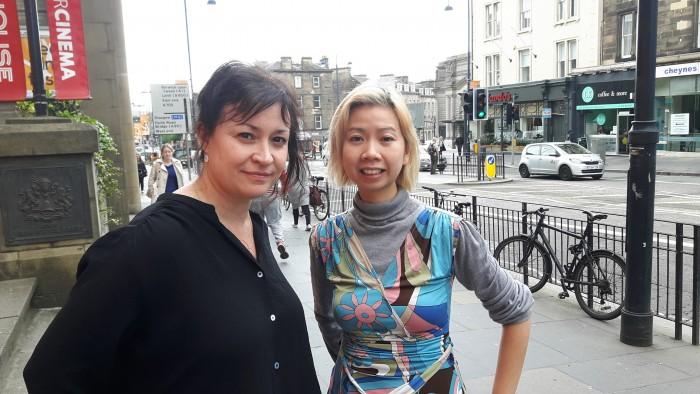 Director Christy Garland with FilmDoo co-founder Weerada Sucharitkul