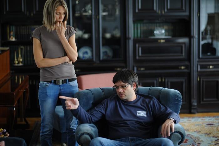 Director Dimitar Kotzev with Lora from Morning Till Evening star Milena Nikolova