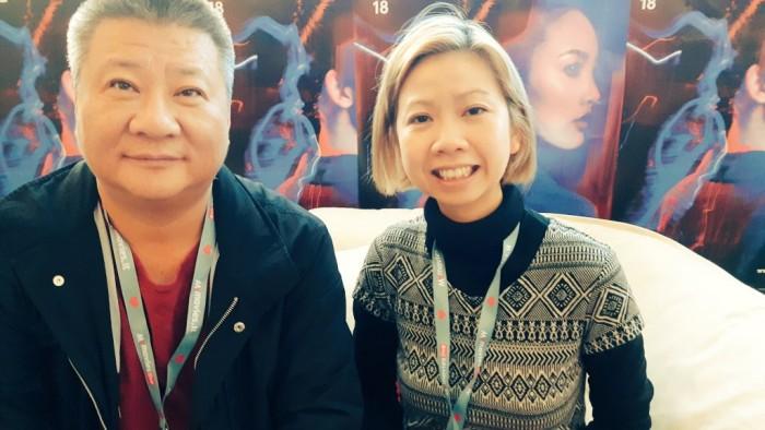 Director Zhang Wei with FilmDoo co-founder Weerada Sucharitkul