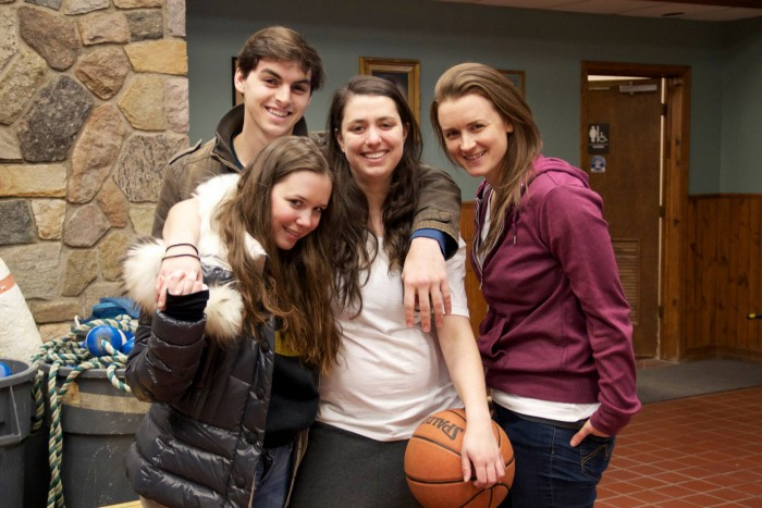 Left to right: Stevie cast members James Kelly, Julia Randall, Chloe Jury-Fogel and Erin Nelson