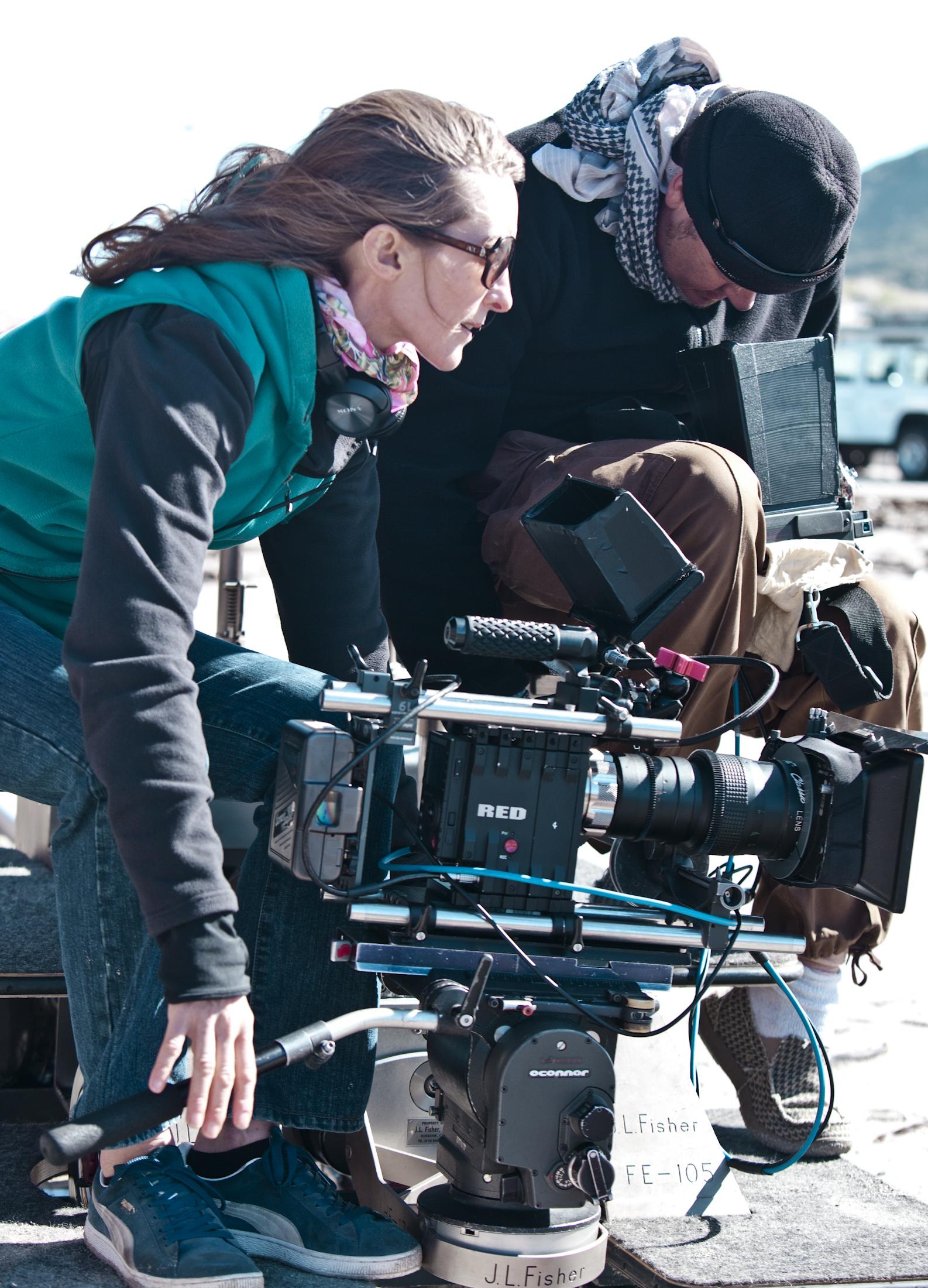 Carey McKenzie with cinematographer Shane Daly