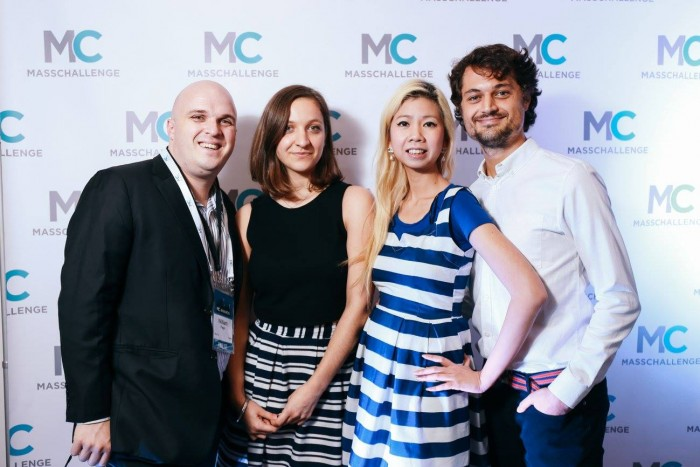 Left to right: William Page with FilmDoo team members Delphine Riffaud, Weerada Sucharitkul and Simon Savory