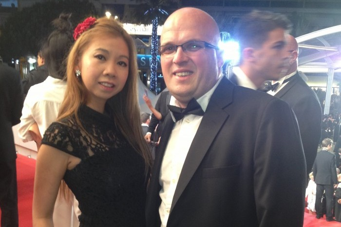 Weerada with FilmDoo co-founder William Page at the 2015 Cannes Film Festival
