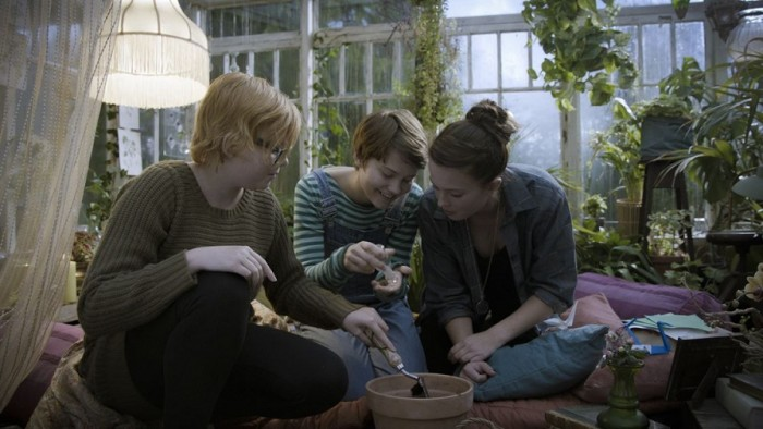 Left to right: Wilma Holmen, Tuva Jagell and Louise Nyvall star in Girls Lost