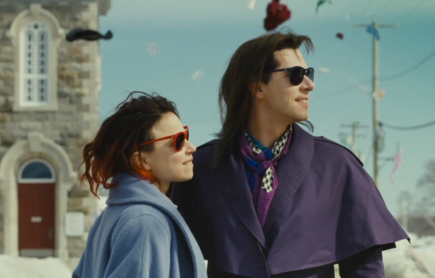Together - Suzanne Clément (on left) stars asFrédériqueandMelvil Poupaud (on right) stars as Laurence in Xavier Dolan'sLaurence Anyways.