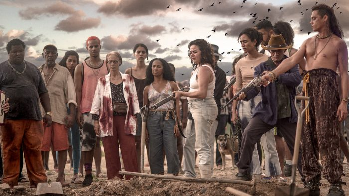 "Kleber Mendonça and Filho Juliano Dornelles' Bacurau was released online as part of Kino-Lorber's ""virtual cinema"" distribution model."